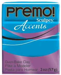 premo! Sculpey Accents -- Blue Translucent  -- 2 oz