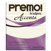 premo! Sculpey Accents -- White Translucent  -- 2 oz