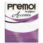 premo! Sculpey Accents -- White Granite -- 2 oz