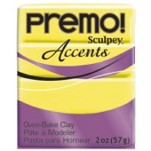 premo! Sculpey Accents -- Yellow Translucent -- 2 oz