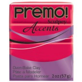 premo! Sculpey Accents -- Red Translucent -- 2 oz
