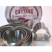 Ateco Heart Cutter Set